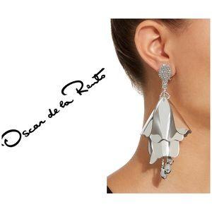 Oscar de la renta Large Impatiens Flower Earrings